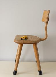 Vintage Schoolstoeltje, van de Woude 1965