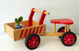 Vintage houten loop-bakfiets