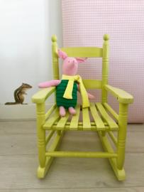 Kinder schommelstoeltje, geel-groen