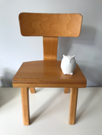 Vintage houten schoolstoeltje,  merk Rolf