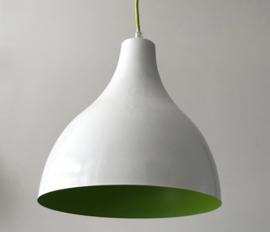 Hippe witte metalen hanglamp