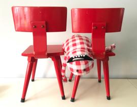 Vintage schoolstoeltjes, rood