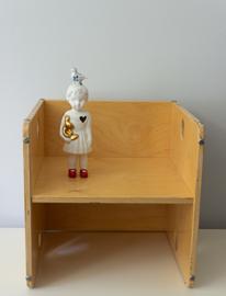 Vintage kubus stoeltje, van Dijk