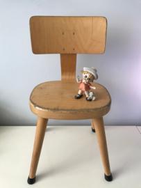 Vintage schoolstoeltjes, ronde zitting, 35 cm