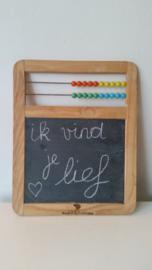 Vintage mini schoolbordje