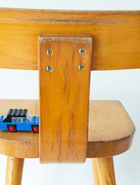 Vintage schoolstoeltje, smalle rugleuning