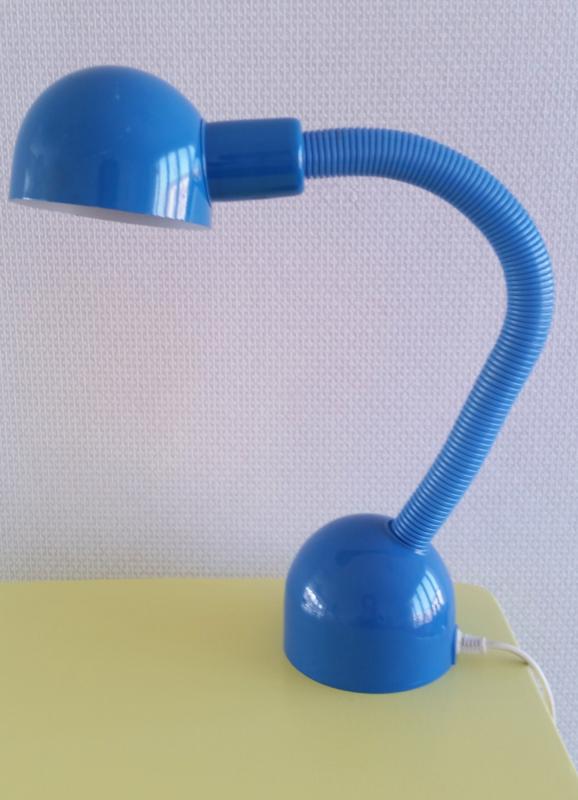 Vintage bureaulampje, blauw