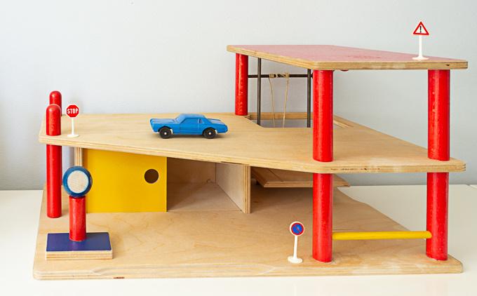 Vintage houten garage