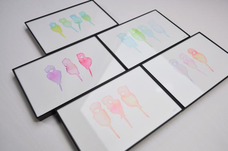 """Inkbirds""  van Steffi Jorna Artworks"