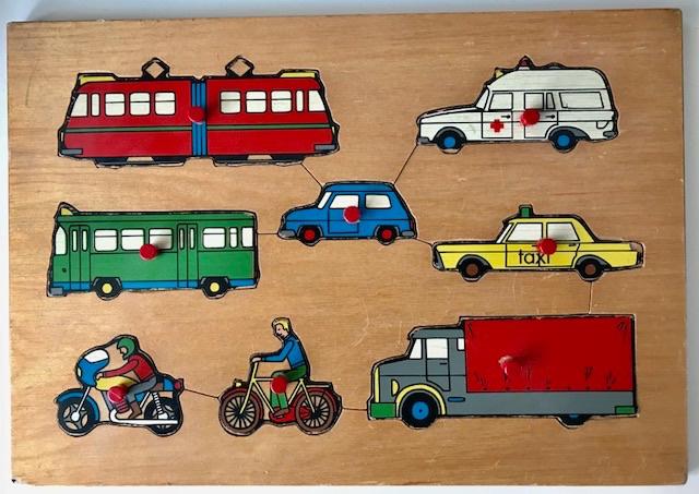 Vintage houten puzzel