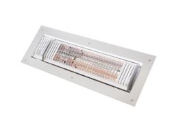 Inbouw Infrarood terrasverwarming 2000 watt met Bluetooth bediening