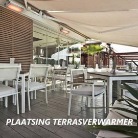 Waar terrasverwarmer plaatsen?