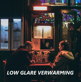 Wat betekent 'low glare' bij infrarood terrasverwarming?