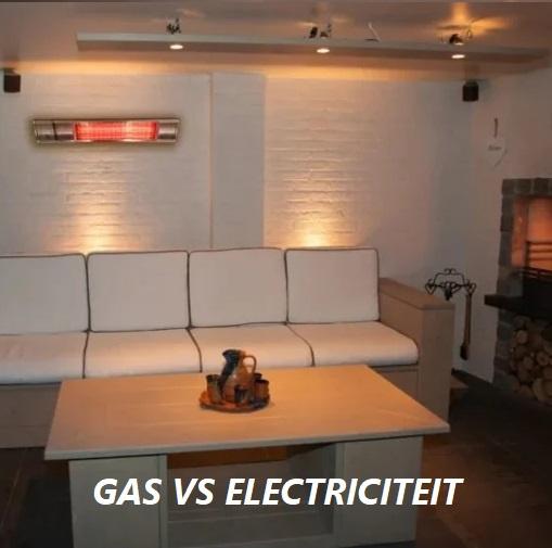 Terrasverwarmer op gas of electriciteit nemen?