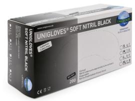 Soft-Nitrile handschoen - Black -Small