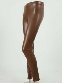 Leatherlook legging cognac
