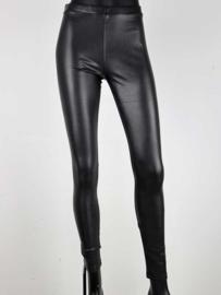 Leatherlook legging zwart