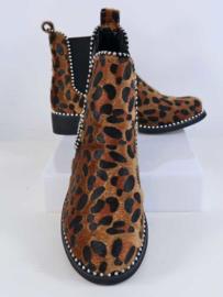 Boots met luipaardprint