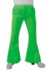Hippie broek fluor groen