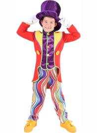 Rainbow clown jongen