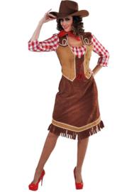 Cowgirl met geruite hemd