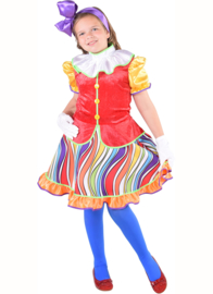 Rainbow clown meisje