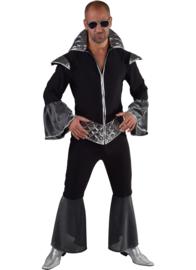 Disco koning zwart/zilver