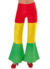 Hippie broek rood/geel/groen