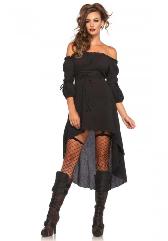 Gauze High Low Peasant Dress