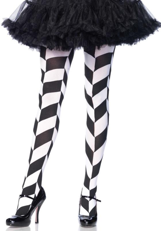 Chevron illusion pantyhose