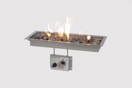 Wood-Trend inbouwbrander rechthoek met glas 50x19
