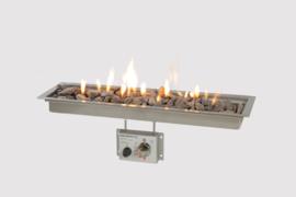 Wood-Trend inbouwbrander rechthoek met glas 65x19
