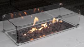 Wood-Trend inbouwbrander rechthoek met glas 65x25