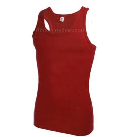 Halterhemd  white label Rood 2 pak