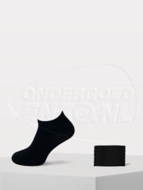 Teckel - Sneaker Sokken - Zwart- 6 Paar