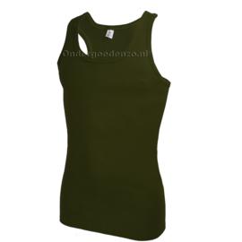Halterhemd  white label leger groen 2 pak