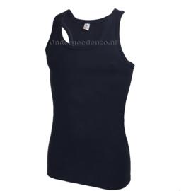 Halterhemd  white label marine blauw 2 pak