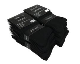 12 paar zwarte Damessokken