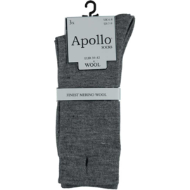 Merino Wollen Sokken - Grijs - 3 Paar