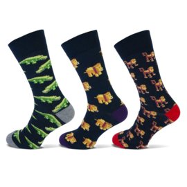 Teckel - Fashion Socks - Animal - 3 Paar