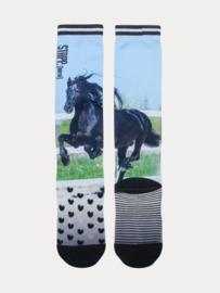 StappHorse - Paardrijsokken - Black Horse Printed