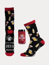 Bier Sokken - Blikje/Spaarpot - Rood