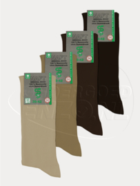 Sokken voor diabeten - Bruin/Beige - 4 Paar