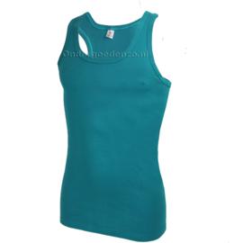 Halterhemd  white label aqua blauw 2 pak