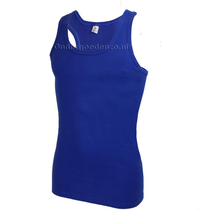 Halterhemd  white label Kobalt blauw 2 pak