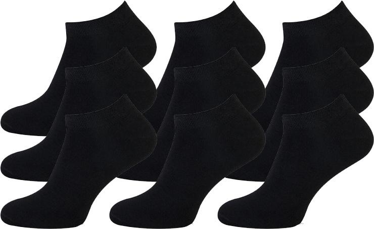Pierre Cardin - Sneakersokken - Zwart - 9 Paar