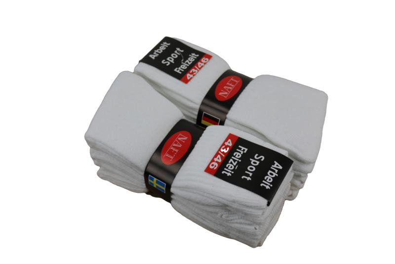 Sport sokken 10 pak wit