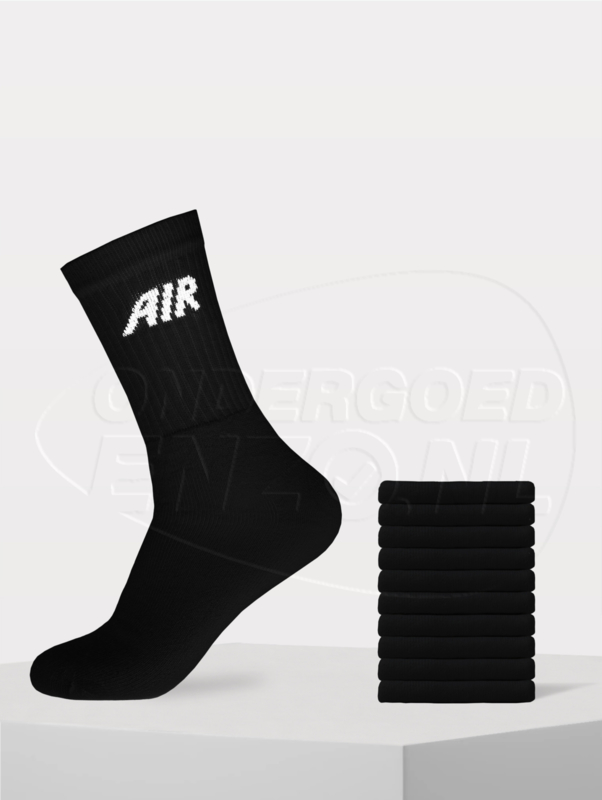 'AIR' sokken 10 pak zwart