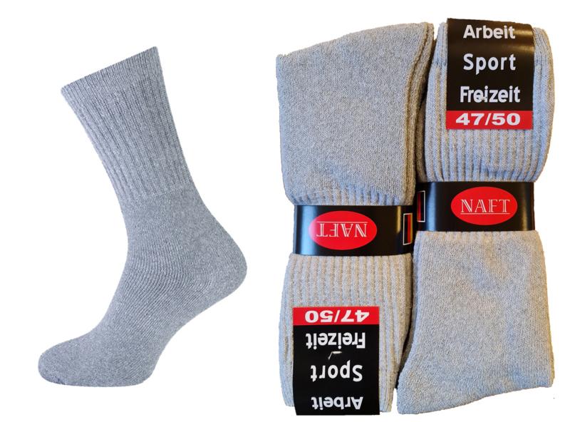 Sport sokken 10 pak licht grijs