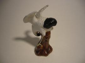 Vogel, beeldje, kraanvogel porselein China
